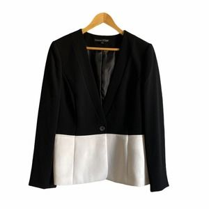 Preston & York Black White Color Block Blazer
